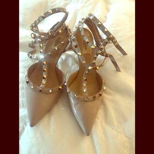 Authentic Valentino Rock Stud Kitten Heels